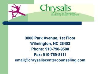 3806 Park Avenue, 1st Floor Wilmington, NC 28403 Phone: 910-790-9500 Fax: 910-769-8111