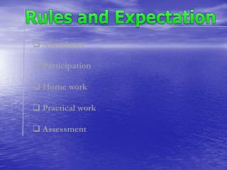 Rules and Expectation