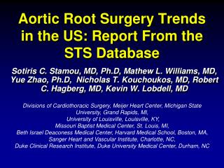 Aortic Root Surgery Trends in the US: Report From the STS Database