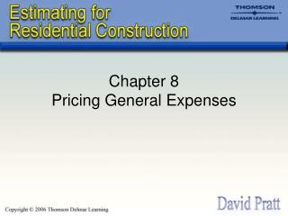 Chapter 8 Pricing General Expenses