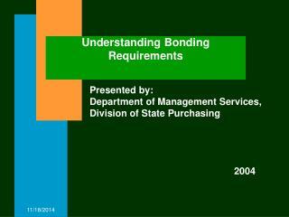 Understanding Bonding Requirements