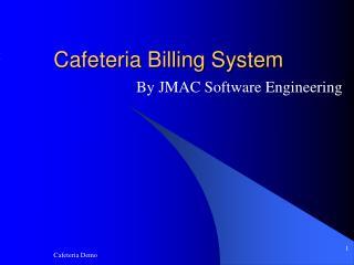 Cafeteria Billing System