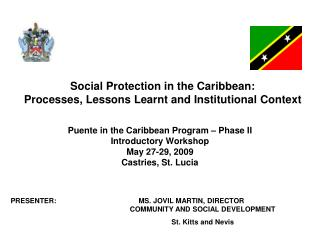 Social Protection in the Caribbean:  Processes, Lessons Learnt and Institutional Context