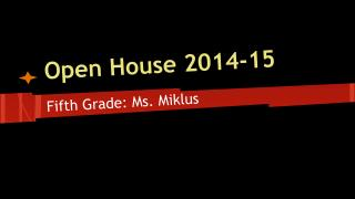 Open House 2014-15