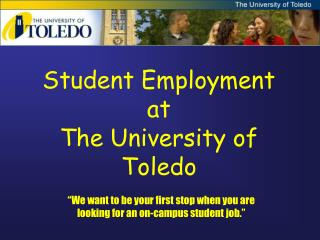 Student Employment at  The University of Toledo
