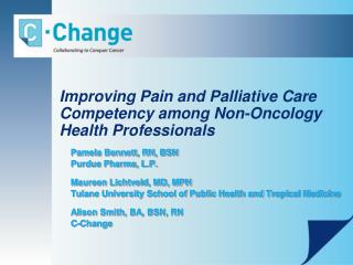 Improving Pain and Palliative Care Competency among Non-Oncology Health Professionals