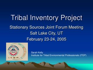 Tribal Inventory Project