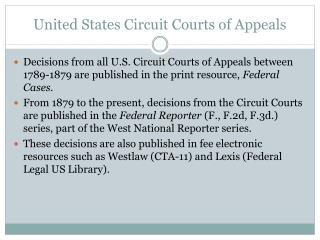 United States Circuit Courts of Appeals