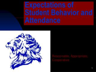 Expectations of Student Behavior and Attendance
