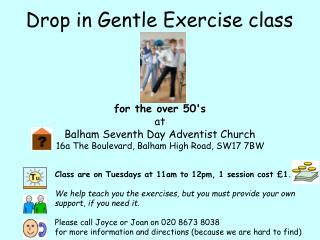 Drop in Gentle Exercise class