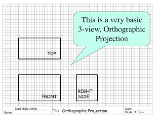 This is a very basic 3-view, Orthographic Projection
