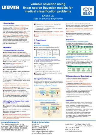 3  Experiments 3.1 Data Binary cancer classification