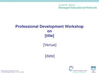 Professional Development Workshop  on  [title]