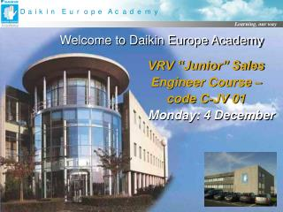 Welcome to Daikin Europe Academy