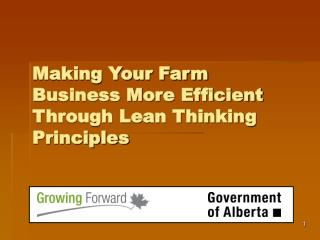 Making Your Farm Business More Efficient Through Lean Thinking Principles