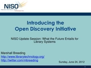 Introducing the Open Discovery Initiative