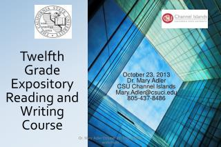 Twelfth Grade Expository Reading and Writing Course