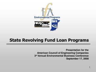 State Revolving Fund Loan Programs