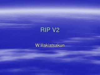 RIP V2