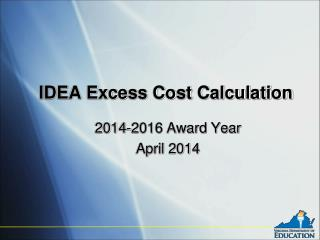 IDEA Excess Cost Calculation