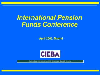 International Pension Funds Conference