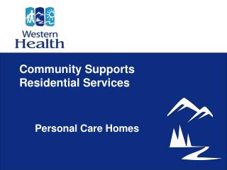 Community Supports  Residential Services
