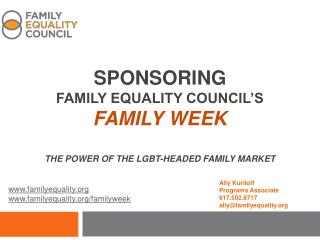 Sponsoring Family Equality Council's Family Week The Power of the  Lgbt -headed Family Market