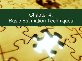 Chapter 4:   Basic Estimation Techniques