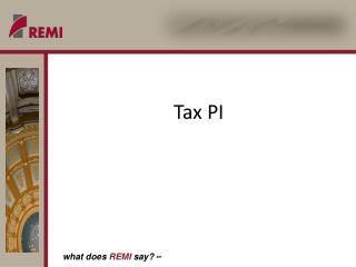 Tax PI
