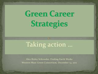 Green Career Strategies