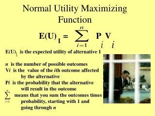 Normal Utility Maximizing Function