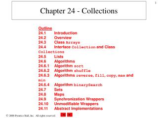 Chapter 24 - Collections