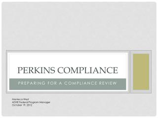 Perkins Compliance