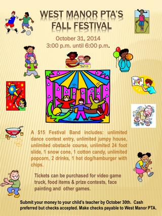 West manor  pta�s fall festival
