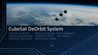 CubeSat DeOrbit System