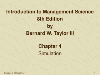 Chapter 4 Simulation