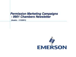 Permission Marketing Campaigns  -  9901 Chambers Newsletter (Austria  – 1/12/2011)