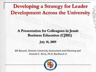 Developing a Strategy for Leader Development Across the University