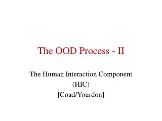 The OOD Process - II