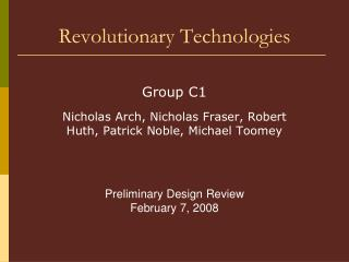 Revolutionary Technologies