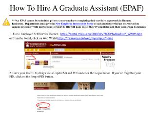 How To Hire A Graduate Assistant (EPAF)