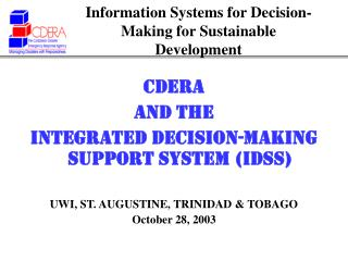 Information Systems for Decision-Making for Sustainable Development