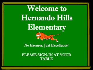 Welcome to Hernando Hills Elementary