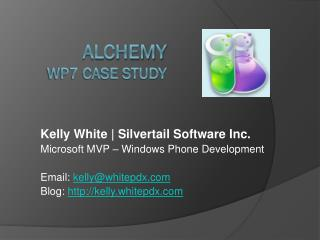 Alchemy WP7 Case Study