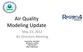 Air Quality Modeling Update