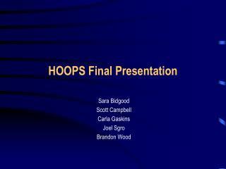 HOOPS Final Presentation