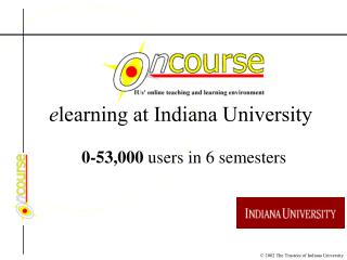 e learning at Indiana University