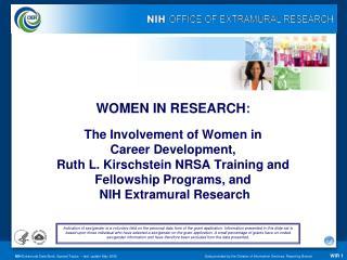 WOMEN IN RESEARCH :