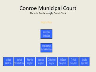 Conroe Municipal Court  Rhonda Scarborough, Court Clerk