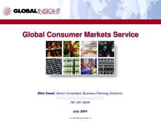 Global Consumer Markets Service